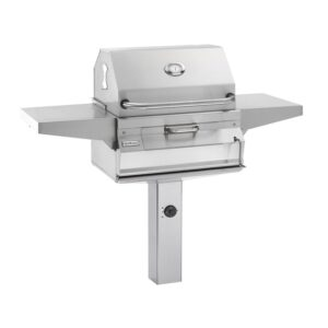Fire Magic Legacy 24-Inch Smoker Charcoal Grill On In-Ground Post